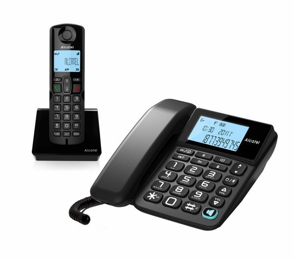Радиотелефон DECT Alcatel S250 Combo Ru Black